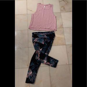 Fabletics Tank and Leggings Set